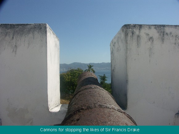 Spanish Cannons in the Acapulco Fort